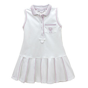 French Girls Pink Tennis Dress With Pleats