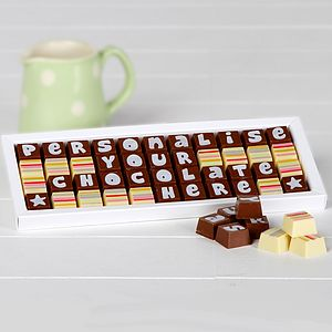 Personalised Chocolates In Large Box - food & drink gifts