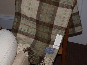 Shetland Checks Throws And Cushions - throws, blankets & fabric