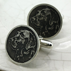 Personalised Dog Cufflinks - cufflinks