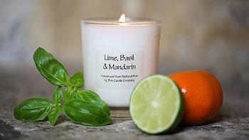 Scented Candle   Lime Basil Mandarin