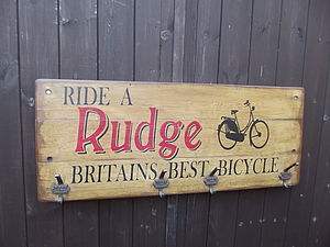 Reclaimed Bicycle Hook Board