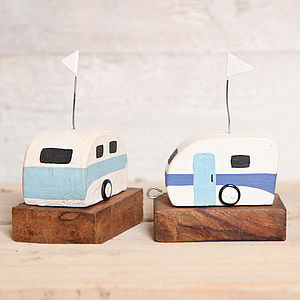 Wooden Caravan Ornament