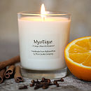 Scented Candle Orange Clove Cinnamon