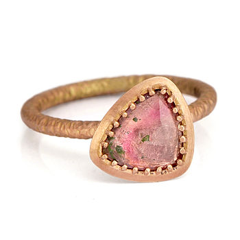 Fiori Ring With Pink Tourmaline