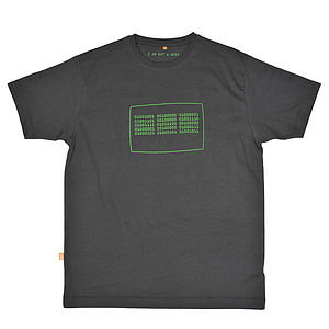 Binary Code T Shirt - men's fashion