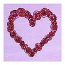 Illustrated Rose Heart Greetings Card