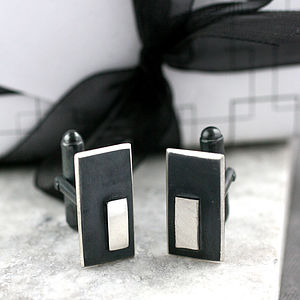 Art Deco Rectangle Cufflinks