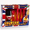 Soldier Egg Cup And Spoon And Toast Cutter