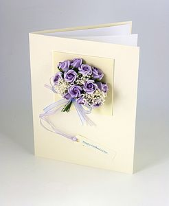 3 D Personalised Mum Bouquet Greetings Card