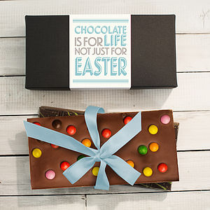 Chocolate Is For Life Three Bar Gift Set - food & drink gifts