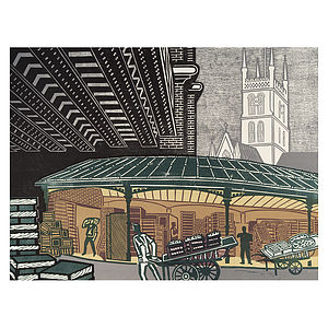 Borough Market Print - contemporary art