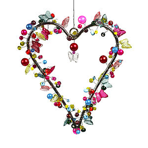 Bright Butterfly Bead Heart