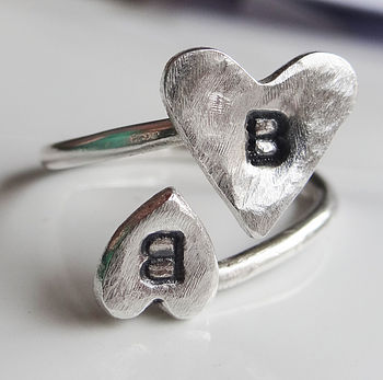 Personalised Love Letter Adjustable Ring