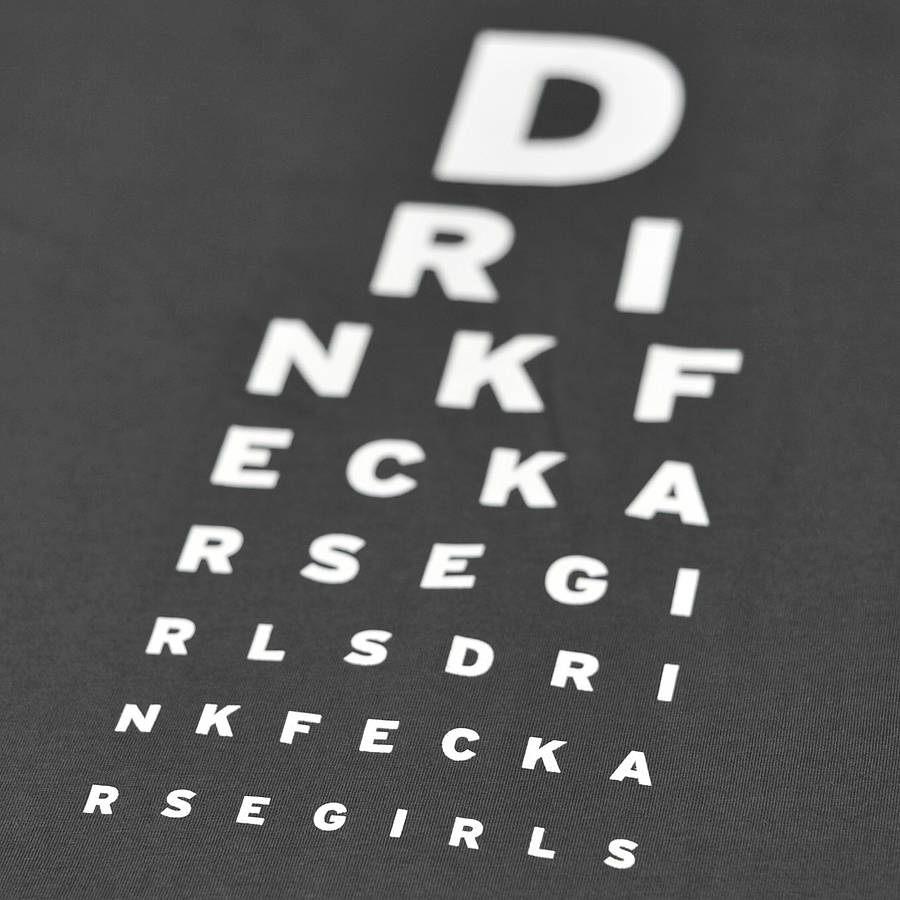 father ted eyechart t shirt by huddersfield screenprinting co
