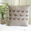 ' Garden Birds ' Irish Linen Cushion