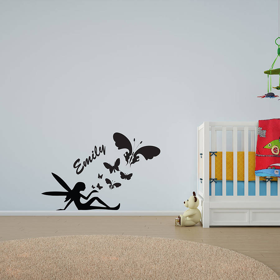 Personalised Fairy Butterfly Wall Art
