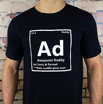 Adult Periodic Personalised T Shirt