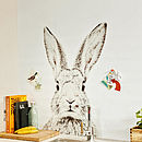 Rabbit Print Magnetic Wallpaper