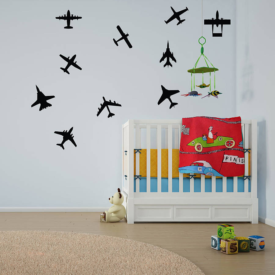 Airplanes Wall Art Decal Pack For Kids Part 82