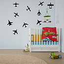 Airplanes Wall Art Decal Pack For Kids