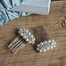 Bridal Hair Comb Luna Collection