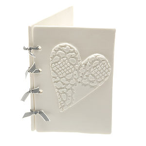White Porcelain Card - wedding, engagement & anniversary cards