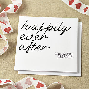 Personalised Engagement Card - wedding cards & wrap