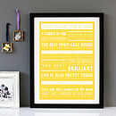 Personalised 'Things I Learnt From My Mum' Print - Yellow