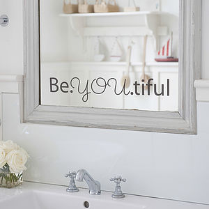 'Beyoutiful' Mirror Sticker - wall stickers