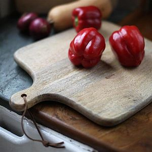 Square Wooden Chopping Board - housewarming gifts