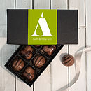 Personalised Alphabet Birthday Chocolates