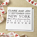 Personalised Dreams Came True Wedding Card