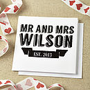 Personalised Retro Wedding Card