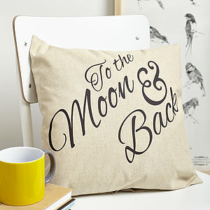 To The Moon And Back Cushion - cushions
