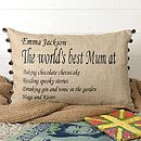 World's Best Mum Cushion