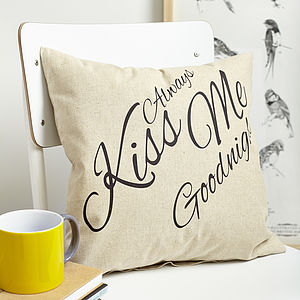Always Kiss Me Goodnight Cushion - cushions