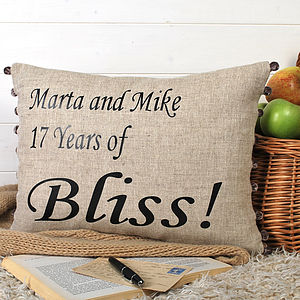 Personalised 'Bliss' Cushion