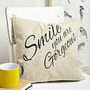 100% ''Smile' Cushion