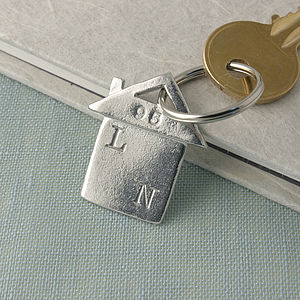 New Home Gift Housewarming Gift Personalised Keyring - womens