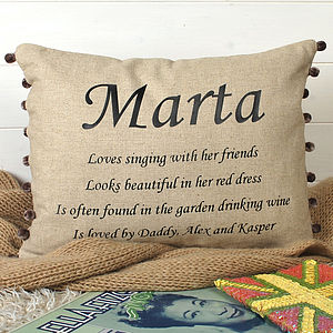 Birthday Gift Cushion - personalised cushions