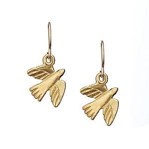 18k Gold Plated Bird Earrings
