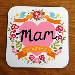 Welsh 'World's Best Mum' Coaster - placemats & coasters
