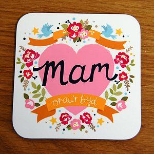 Welsh 'World's Best Mum' Coaster