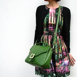 Kelly Green Top Handle Handbag