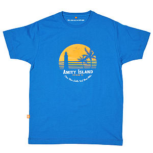 Jaws 'Amity Island Holiday' T Shirt - gifts for him