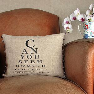 Eye Chart Cushion