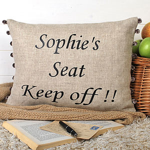 Fun Birthday Present Cushion - home sale