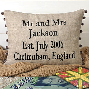 Anniversary Gift And Wedding Cushion - by year