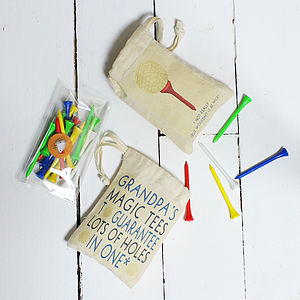 Personalised Bag Of Golf Tees - birthday gifts